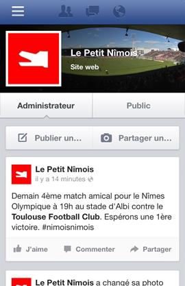 Le Petit Nîmois sur Facebook
