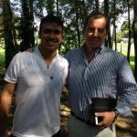 Pedro Joaquin Galvan et le président Jean-Marc Conrad