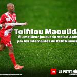 Toifilou Maoulida élu joueur du mois d'Août