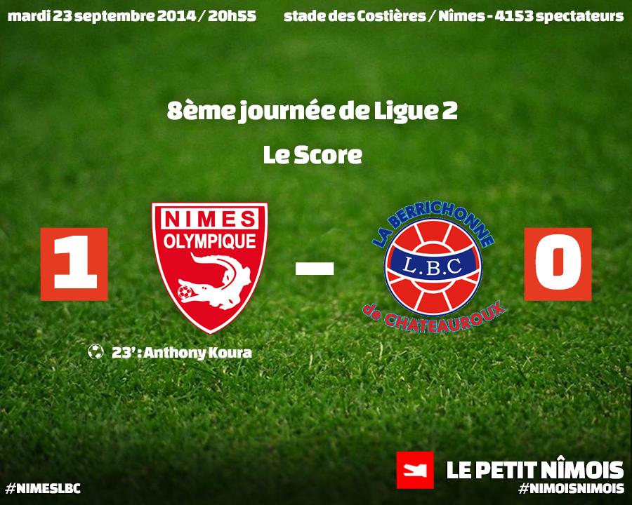 Le Nîmes Olympique renoue avec la victoire face à Châteauroux