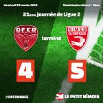 Dijon FCO 4 - Nîmes Olympique 5 21 journée de Ligue 2 2014/2015